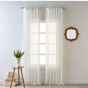 Bee & Willow Kai 84-Inch Rod Window Curtain Panel